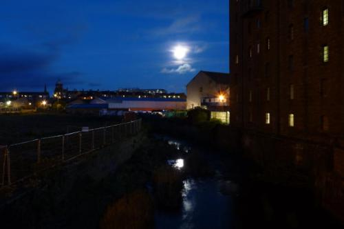 Moon over Water of Leith