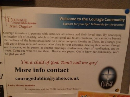 Courage - Ex-gay Galway