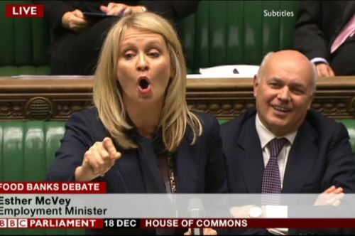 Iain Duncan Smith & Esther McVey - foodbanks debate