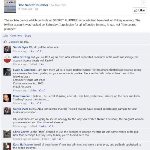 Secret Plumber Facebook