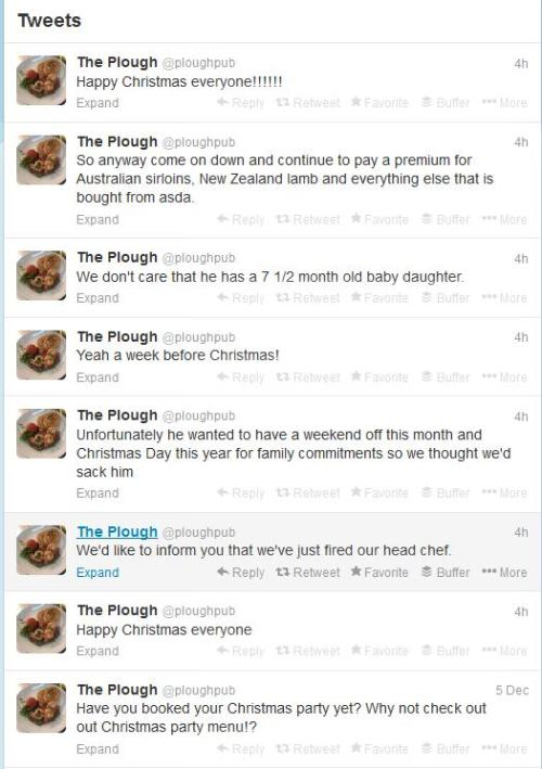 The Plough tweets