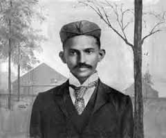 Mohandas K. Gandhi as a young man