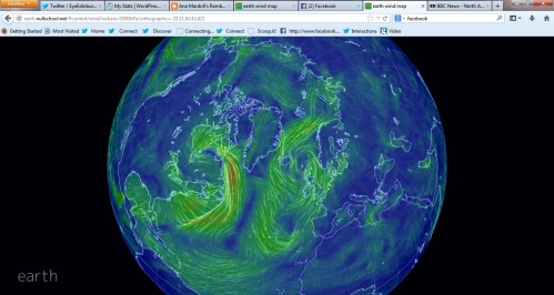 Earth winds visualisation