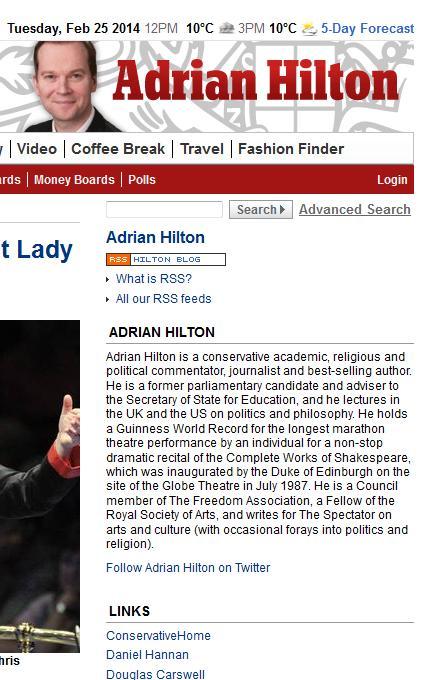 Adrian Hilton, Archbishop Cranmer