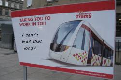 Edinburgh Trams - Not travelling down Leith Walk in 2014