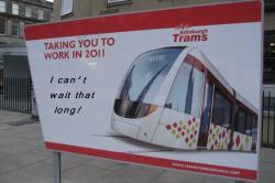 Edinburgh Trams - Not travelling down Leith Walk in 2014