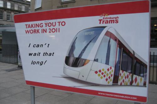 Edinburgh Trams Taking You To Work In 2011
