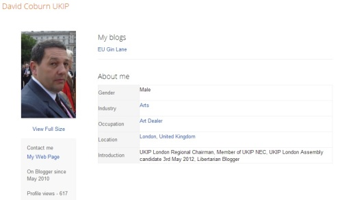 David Coburn Blogger Profile