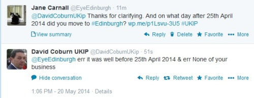 David Coburn lies to the Electoral Commission