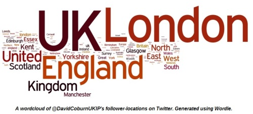 David Coburn's Twitter followers live in London mostly