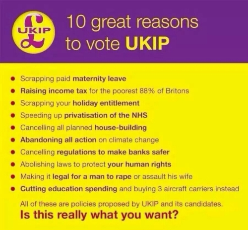 10 Good Reasons to Vote for UKIP