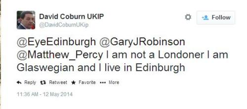 David Coburn lives in Edinburgh?