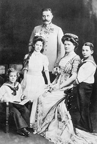 Franz Ferdinand, Sophie Duchess of Hohenberg, and their family