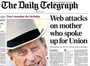Daily Telegraph front page headline on Clare Lally