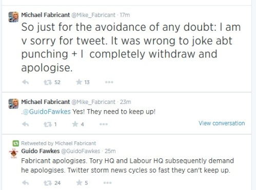 Michael Fabricant non-apology