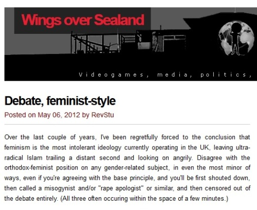 Wings Over Sealand - misogyny