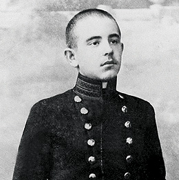 Miroslav Krleža as a cadet in 1914