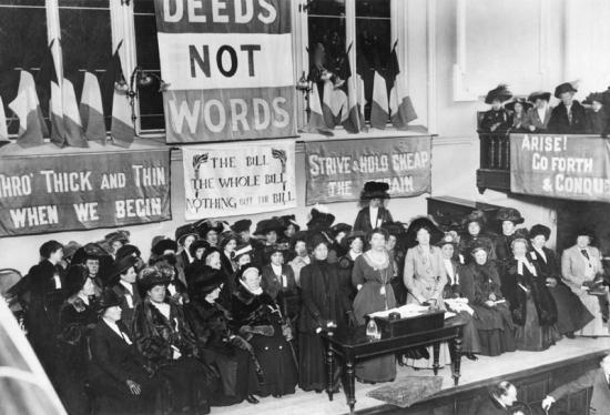 Suffragettes, England, 1908