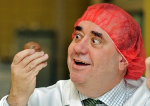 Alex Salmond and a teacake