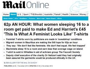 Mail Online feminist tshirt