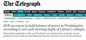 Telegraph headline
