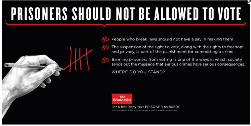 Prisoners right to vote - no