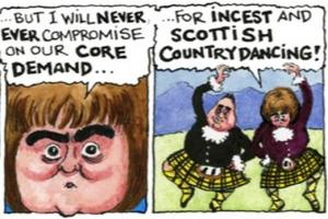 Steve Bell says SNP's core demand is for incest and Scottish Country Dancing