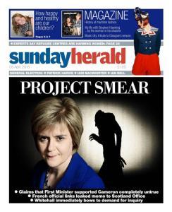 Sunday Herald: Project Smear