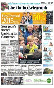 Telegraph front page 4th April