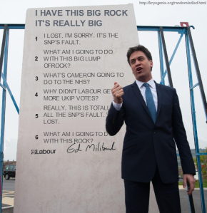 Ed Miliband's big rock