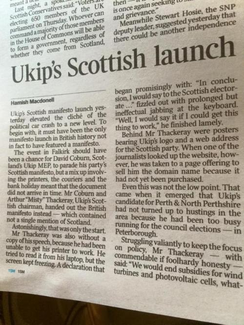 UKIP's Scpttish Launch