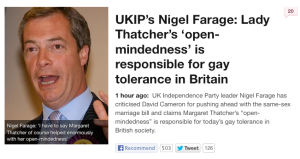 Farage on Thatcher