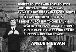Aneurin Bevan: Tories lie