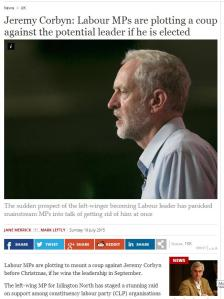 Jeremy Corbyn: Labour MPs are plotting a coup against the potential leader if he is elected