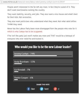 Carole Malone's column and Mirror poll