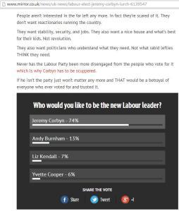 Carole Malone's column and Mirror poll