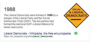 How right-wing Labour split, created the SDP, then joined the Liberal Party, thus creating the Liberal Democrats