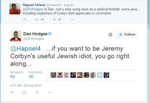 Dan Hodges attacks Jewish Corbyn supporter