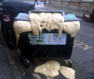 The overflowing dough bin