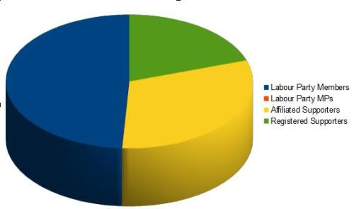 Labour Leadership electorate pie chart