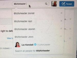 Louise Mensch discovers her own search history