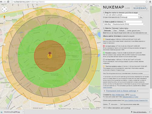 If a nuclear weapon exploded over Edinburgh
