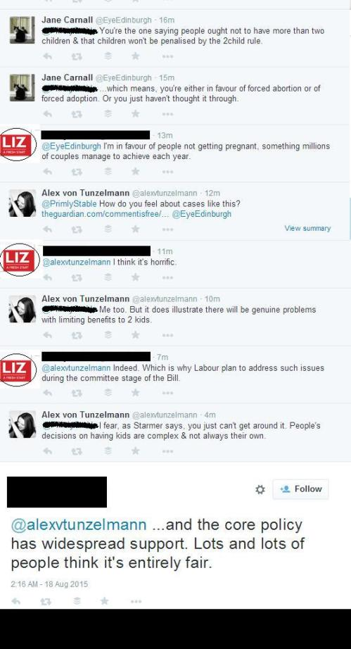 Liz Kendall supporter defends 2child rule