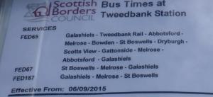 Tweedbank bus timetable