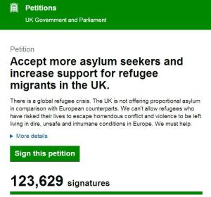 Petition the UK government to accept more refugees