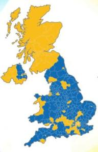 The EUref results map