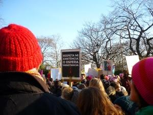 Women gather in Edinburgh