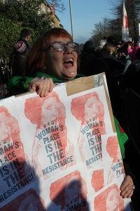 Susan Rae at the Womens March