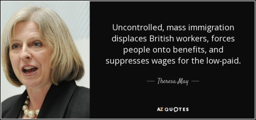 Theresa May as Home Secretary on Immigration