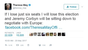 Theresa May: If I lose just six seats....